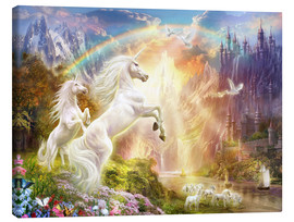Canvas print  Sunset unicorns - Jan Patrik Krasny