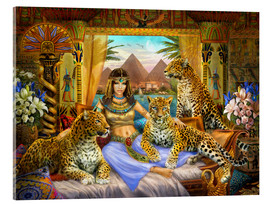 Acrylic print  Egyptian Queen of the Leopards - Jan Patrik Krasny
