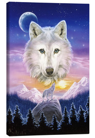 Canvas print  Mountain wolf - Robin Koni