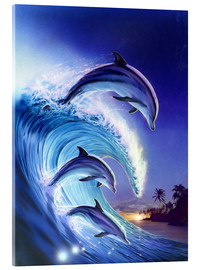 Acrylic print  Riding the wave - Robin Koni