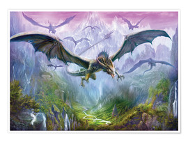 Premium poster  The Valley Of Dragons - Dragon Chronicles