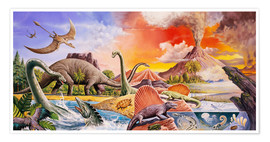 Premium poster  Volcanic eruption in prehistoric times - Paul Simmons