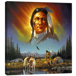 Canvas print  Chief eagle feather - Chris Hiett