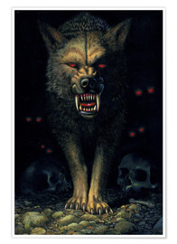 Premium poster  Demon wolf - Chris Hiett