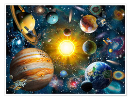 Premium poster  Our Solar System - Adrian Chesterman
