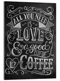 Acrylic print  All You Need Is Love - Lily & Val