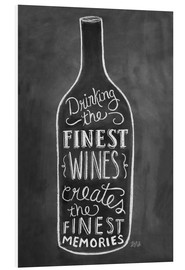 Foam board print  Finest Wines - Lily & Val