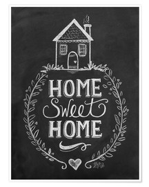Premium poster  Home Sweet Home - Lily & Val