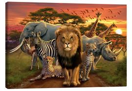 Canvas print  African beasts - Andrew Farley