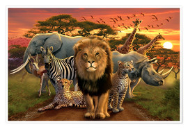 Premium poster  African beasts - Andrew Farley