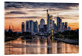 Acrylic print  Frankfurt Skyline Sunset Skyscrapers - Frankfurt am Main Sehenswert