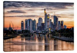 Canvas print  Frankfurt Skyline Sunset Skyscrapers - Frankfurt am Main Sehenswert