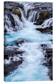 Canvas print  Bruarfoss waterfall in Iceland - Dennis Kirkland