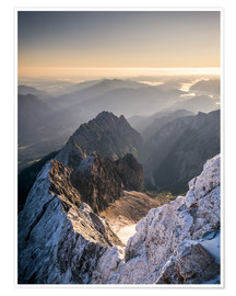 Premium poster  View over the Alps from Zugspitze - Andreas Wonisch