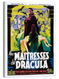 Canvas print  THE BRIDES OF DRACULA (LES MAITRESSES DE DRACULA), David Peel