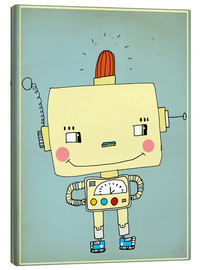 Canvas print  Robbie robot in love - Little Miss Arty