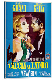 Canvas print  TO CATCH A THIEF (CACCIA AL LADRO), Grace Kelly, Cary Grant