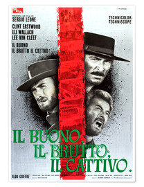Premium poster THE GOOD, THE BAD AND THE UGLY, (IL BUONO, IL BRUTTO, IL CATTIVO), Clint Eastwood, Lee Van cleef, El