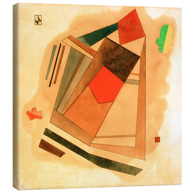 Canvas print  Red in a Square - Wassily Kandinsky