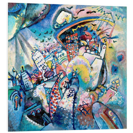 Foam board print  Red square - Wassily Kandinsky