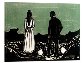 Acrylic print  Two human Beings. The Lonely Ones - Edvard Munch