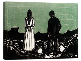 Canvas print  Two human Beings. The Lonely Ones - Edvard Munch