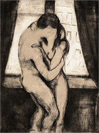 Aluminium print  The kiss - Edvard Munch
