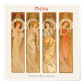 Premium poster  Champagne Moet & Chandon - Alfons Mucha