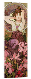 Acrylic print  The Jewels - Amethyst - Alfons Mucha