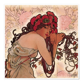 Premium poster  The Four Seasons - Spring in detail - Alfons Mucha