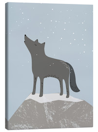 Canvas print  Wolf - Sandy Lohß