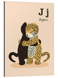 Aluminium print  The Animal Alphabet - J like Jaguar - Sandy Lohß