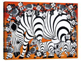 Canvas print  Zebra mother with baby - Zuberi