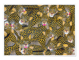 Premium poster  Large cheetah cuddle - Omary