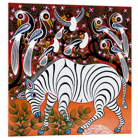Foam board print  Zebra at seizure - Mzuguno