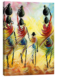 Canvas print  African Women Fetching Water - Nangida
