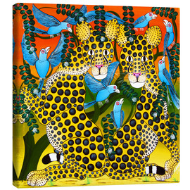 Canvas print  Cheetahs united in the twilight - Omary