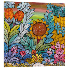 Foam board print  Flowery colors - Mzuguno