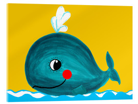Acrylic print  Frida, the friendly whale - Little Miss Arty