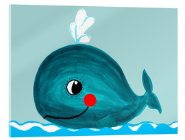 Acrylic print  Willow, the friendly whale - Little Miss Arty
