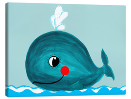 Canvas print  Willow, the friendly whale - Little Miss Arty