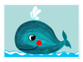 Premium poster  Willow, the friendly whale - Little Miss Arty