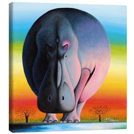 Canvas print  Hippo at dusk - Mkura