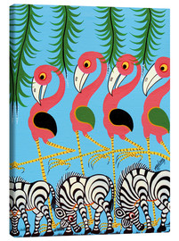 Canvas print  The Dance of the Flamingos - Maulana