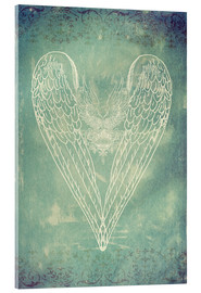 Acrylic print  Vintage Winged Heart - Sybille Sterk