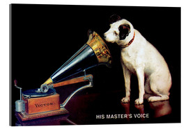 Acrylic print  Victor Grammophon - His master's voice - François Barraud
