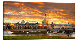 Canvas print  Dresden Elbe  sunset - bildpics