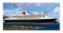 Premium poster  Queen Mary 2 in the port of La Palma - MonarchC