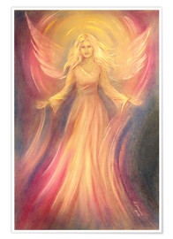 Premium poster  Angel of light and love - Marita Zacharias