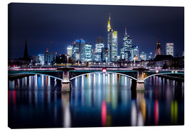 Canvas print  Frankfurt Skyline night - Frankfurt am Main Sehenswert